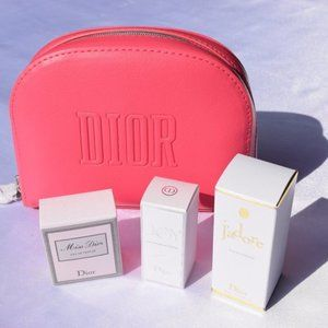 DIOR Cosmetic Case and 3 Deluxe Mini